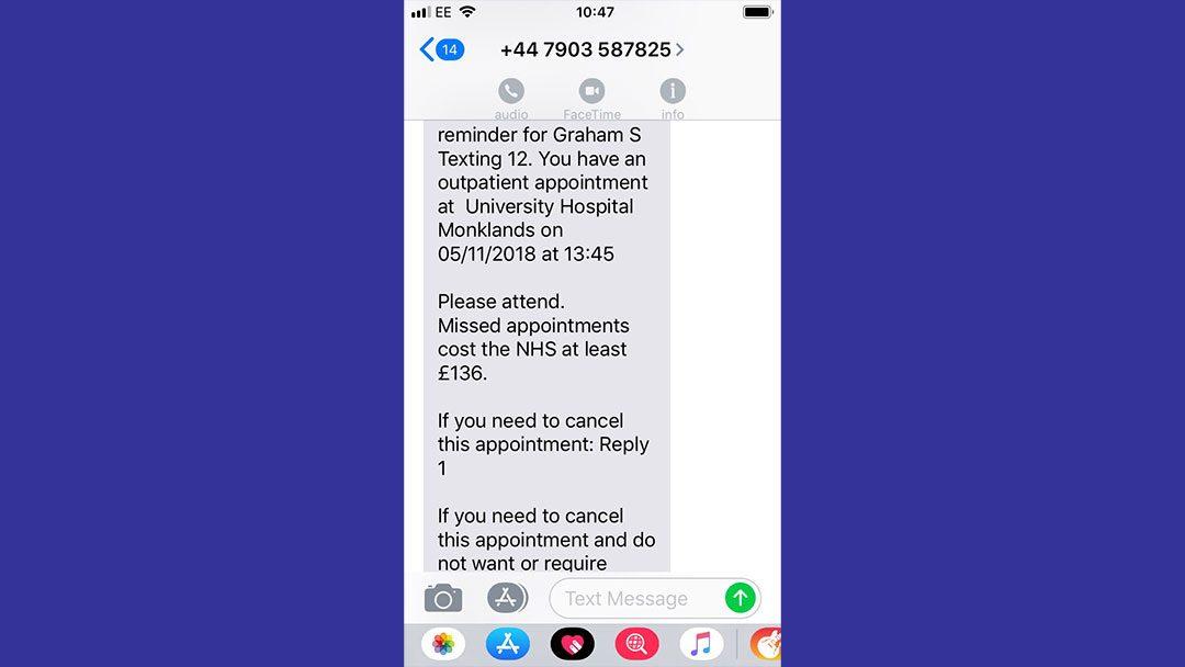 NHS Lanarkshire trials new text reminder service | NHS