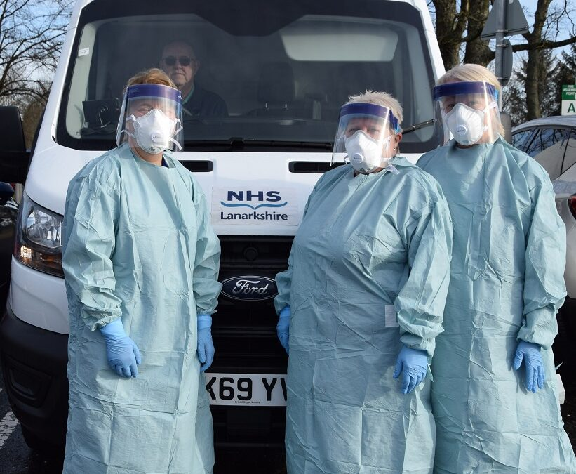 Community testing for coronavirus (COVID-19) underway in Lanarkshire
